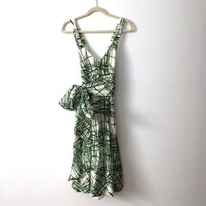 Zara Sundress with Cross Back Modern Linear Print